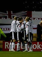 Derby celebrate again.  Giles Barnes scores their third.