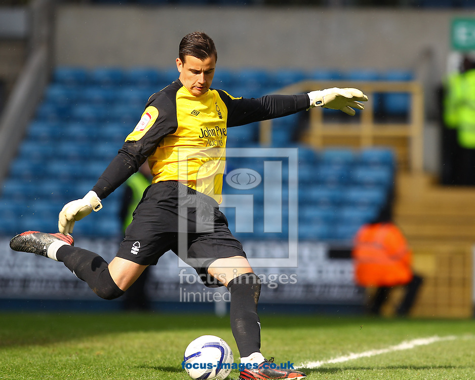 Picture by John Rainford/Focus Images Ltd +44 7506 538356.27/04/2013.Karl Darlow of Nottingham Forest during the npower Championship match at The Den, London.