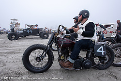 Vince Perry with his 1939 Harley-Davidson U model 80 inch Flathead at TROG (The Race Of Gentlemen). Wildwood, NJ. USA. Saturday June 9, 2018. Photography ©2018 Michael Lichter.