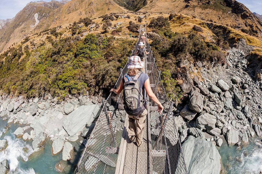 Suspension Bridge on the Rob Roy Glacier Track