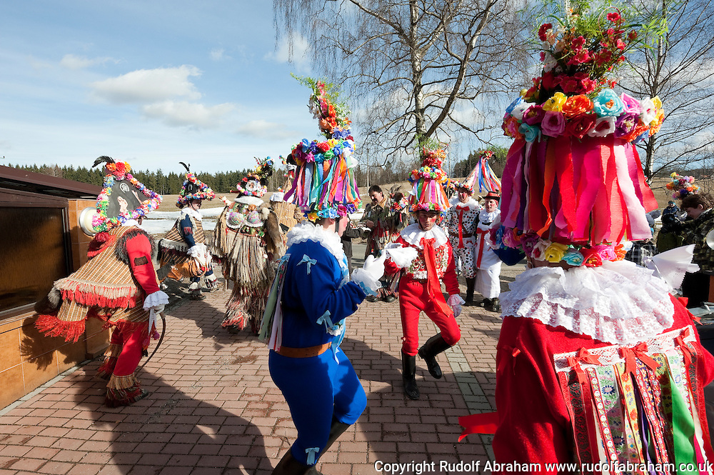 Masopust (Shrovetide Carnival) in the village of Vortová, near Hlinsko, Czechia. The traditional Shrovetide carnival processions in Vortová and surrounding villages in the Hlinsko area are inscribed on the Unesco list of Intangibe Cultural Heritage © Rudolf Abraham