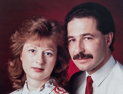 Alzheimer sufferer Yvonne Salomon and her husband Trevor in their family home in Pinner. PICTURED: Trevor and Yvonne photographed in 1987. Pinner, London, March 12 2018.