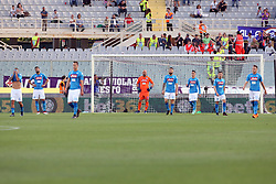 April 29, 2018 - Florence, Florence, Italy - 29th April 2018, Stadio Artemio Franchi, Florence, Italy; Serie A Football, Fiorentina versus Napoli; players of Napoli dejected after  Giovanni Pablo Simeone of Fiorentina scored a goal in the 62th minute  Credit: Giampiero Sposito/Pacific Press (Credit Image: © Giampiero Sposito/Pacific Press via ZUMA Wire)