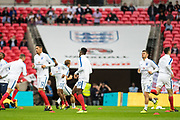 England team  during the warm up before  FIFA World Cup Qualifier match between England and Slovakia at Wembley Stadium, London, England on 4 September 2017. Photo by Sebastian Frej.