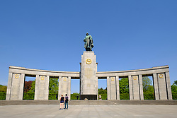 The  Soviet War Memorial in Tiergarten Berlin Germany