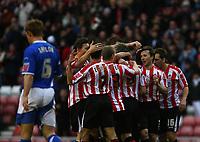 Photo: Andrew Unwin.<br />Sunderland v Ipswich Town. Coca Cola Championship. 13/01/2007.<br />Sunderland celebrate David Connolly's goal.