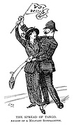 The Spread of the Tango. Arrest of Militant Suffragette.