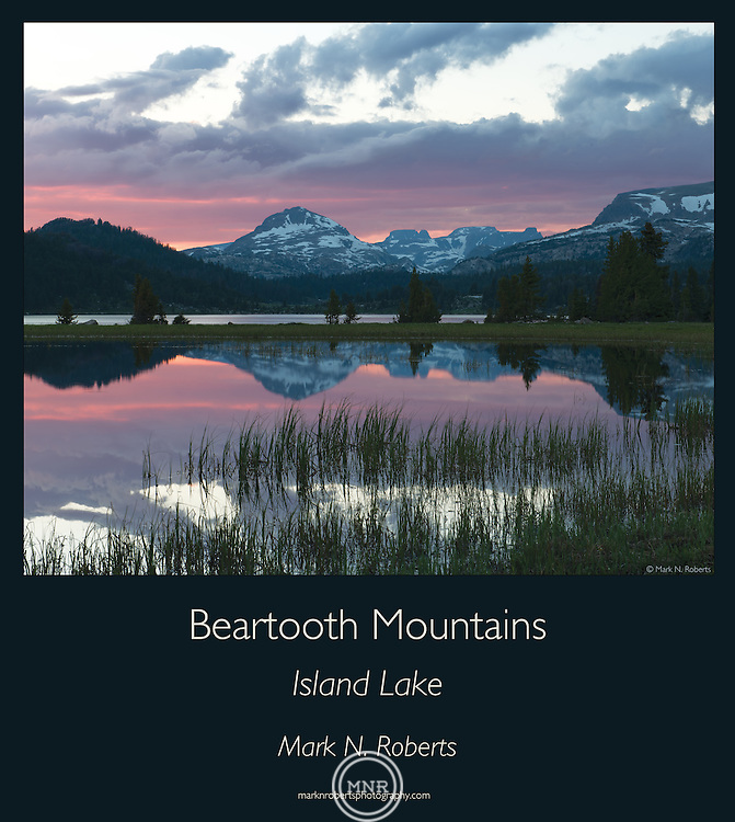 A Sunset near Island Lake in the Beartooth Mountains.