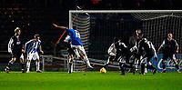 Photo: Alan Crowhurst.<br />Brighton & Hove Albion v Swansea City. Coca Cola League 1. 05/12/2006. Brighton's Alex Revell (C) blasts in his second goal 3-1.