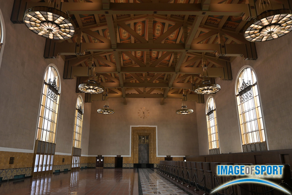 A general view of the Los Angeles Union Station passenger terminal, Tuesday, Sept. 15, 2020, in Los Angeles.