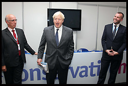 Mayor of London Boris Johnson at a reception at Conservative Home at the Conservative Party Conference in Birmingham, Monday, 8th October October 2012. Photo by: Stephen Lock / i-Images