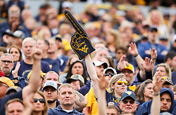 Sep 22, 2018; Morgantown, WV, USA; West Virginia Mountaineers fans cheer during the fourth quarter against the Kansas State Wildcats at Mountaineer Field at Milan Puskar Stadium. Mandatory Credit: Ben Queen-USA TODAY Sports
