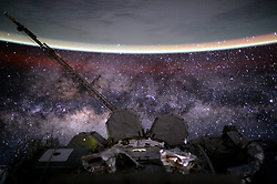 August 9, 2015 - Earth Atmosphere - Astronaut Scott Kelly posted this photo to Twitter on August 9, 2015 with the caption, Day 135. MilkyWay. You're old, dusty, gassy and warped. But beautiful. Good night from  YearInSpace. (Credit Image: ? Scott Kelly/NASA via ZUMA Wire/ZUMAPRESS.com)