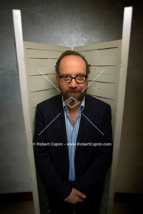 Actor Paul Giamatti poses for a portrait in the HBO building in New York.
