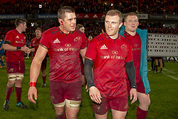 December 30, 2018 - Limerick, Ireland - CJ Stander and Keith Earls of Munster during the Guinness PRO14 match between Munster Rugby and Leinster Rugby at Thomond Park in Limerick, Ireland on December 29, 2018  (Credit Image: © Andrew Surma/NurPhoto via ZUMA Press)