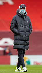 LIVERPOOL, ENGLAND - Sunday, March 7, 2021: Liverpool's manager Jürgen Klopp during the pre-match warm-up before the FA Premier League match between Liverpool FC and Fulham FC at Anfield. Fulham won 1-0 extending Liverpool's run to six consecutive home defeats. (Pic by David Rawcliffe/Propaganda)
