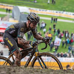 2019-10-19: Cycling: Superprestige: Boom: Lars van der Haar was one of the few riding to the top