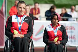 SCHAER Manuela, HELBLING Alexandra, 2014 IPC European Athletics Championships, Swansea, Wales, United Kingdom