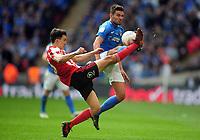Football - 2019 EFL Checkatrade Trophy Final - Sunderland vs. Portsmouth<br /> <br /> Luke O'Nien of Sunderland and Tom Naylor of Portsmouth, at Wembley.<br /> <br /> COLORSPORT/ANDREW COWIE