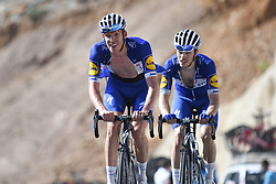 February 17, 2018 - Muscat, Oman - DECLERCQ Tim of Quick-Step Floors, CAVAGNA Rémi of Quick-Step Floors during stage 5 of the 9th edition of the 2018 Tour of Oman cycling race, a stage of 152 kms between Sama'il and Jabal Al Akhdhar (Green Mountain) on February 17, 2018 in Muscat, Sultanate Of Oman, 17/02/2018 (Credit Image: © Panoramic via ZUMA Press)