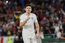 England's Harry Maguire have words with the referee during UEFA Nations League 2019 match between Spain and England at Benito Villamarin stadium in Sevilla, Spain. October 15, 2018. Photo by A. Perez Meca/Alterphotos/ABACAPRESS.COM