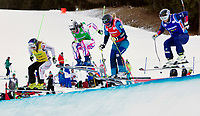 Freestyle<br /> FIS World Cup<br /> Foto: Gepa/Digitalsport<br /> NORWAY ONLY<br /> <br /> INNICHEN,ITALY,19.DEC.15 - FREESTYLE SKIING - FIS World Cup, Ski Cross, ladies. Image shows Andrea Limbacher (AUT), Alizee Baron (FRA), Sandra Naeslund (SWE) and Marte Høie Gjefsen (NOR).