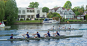 Maidenhead. Berkshire. United Kingdom. General view, JM4X at the start of their heat on the course of the 2017 Maidenhead Junior Regatta  River Thames. <br /> <br /> [©Peter SPURRIER/Intersport Images] Sunday. 14.05.2017
