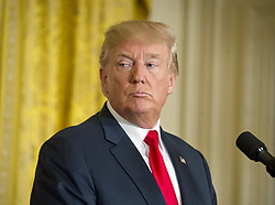 August 28, 2017 - Washington, District of Columbia, United States of America - United States President Donald J. Trump and President Sauli Niinistö of Finland conduct a joint press conference in the East Room of the White House in Washington, DC on Monday, August 28, 2017..Credit: Ron Sachs / CNP (Credit Image: © Ron Sachs/CNP via ZUMA Wire)