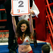 Istanbulls's Show girls during their World Series of Boxing fight in at Ayhan Sahenk Arena in Istanbul, Turkey, Friday, March 11, 2011. Photo by TURKPIX