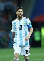 June 21, 2018 - Nizhny Novgorod, Russia - Group D Argentina v Croazia - FIFA World Cup Russia 2018.Lionel Messi (Argentina) at Nizhny Novgorod Stadium, Russia on June 21, 2018. (Credit Image: © Matteo Ciambelli/NurPhoto via ZUMA Press)