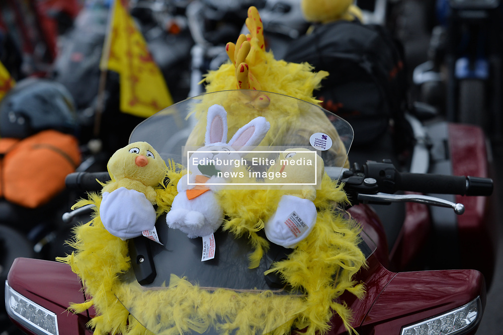 Hundreds of bikers in Easter fancy dress took part in a charity Easter Egg Run for Glasgow Children's Hospital today.<br /> <br /> © Dave Johnston / EEm