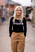 Rita Ora - High Profile Support<br /> <br /> Ferizaj, Kosovo - 9th April 2019<br /> <br /> Unicef UK High Profile Supporter Rita Ora travelled to her native Kosovo in April in support of the Soccer Aid for Unicef 2019 campaign, to see how Unicef programmes are improving child health, childhood development and education in marginalised communities. Rita has been a supporter, campaigner and advocate of Unicef UK and since 2013