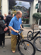 """EXCLUSIVE<br /> <br /> Woody Harrelson rides a bike rather than use a VIP Limousine<br /> <br /> As Woody Harrelson leaves an event at the Zurich Film Festival a Limousine and driver are waiting for him. But the Hollywood star has other ideas. He says:  """"I don't need this fancy shit! Let's take the bike!"""" And he did just that, he rode a bike through the Zurich inner city much to the surprise of passers-by. Zurich, Switzerland<br /> ©Exclusivepix Media"""