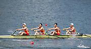 "Rio de Janeiro. BRAZIL.   CHN LM4- Bow. Wei JIN,  Jingbin ZHAO, Chenggang YU and  Tiexin WANG,  2016 Olympic Rowing Regatta. Lagoa Stadium,<br /> Copacabana,  ""Olympic Summer Games""<br /> Rodrigo de Freitas Lagoon, Lagoa. Local Time 12:20:00   Saturday  06/08/2016 <br /> <br /> [Mandatory Credit; Peter SPURRIER/Intersport Images]"