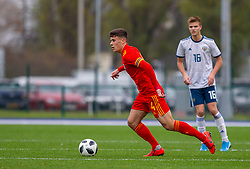 CARDIFF, WALES - Saturday, November 16, 2019: Wales' Sam Bowen during the UEFA Under-19 Championship Qualifying Group 5 match between Russia and Wales at the Cardiff International Sports Stadium. (Pic by Mark Hawkins/Propaganda)