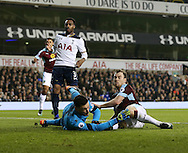 Burnley's Ashley Barnes scoring his sides opening during the Premier League match at White Hart Lane Stadium, London. Picture date December 18th, 2016 Pic David Klein/Sportimage