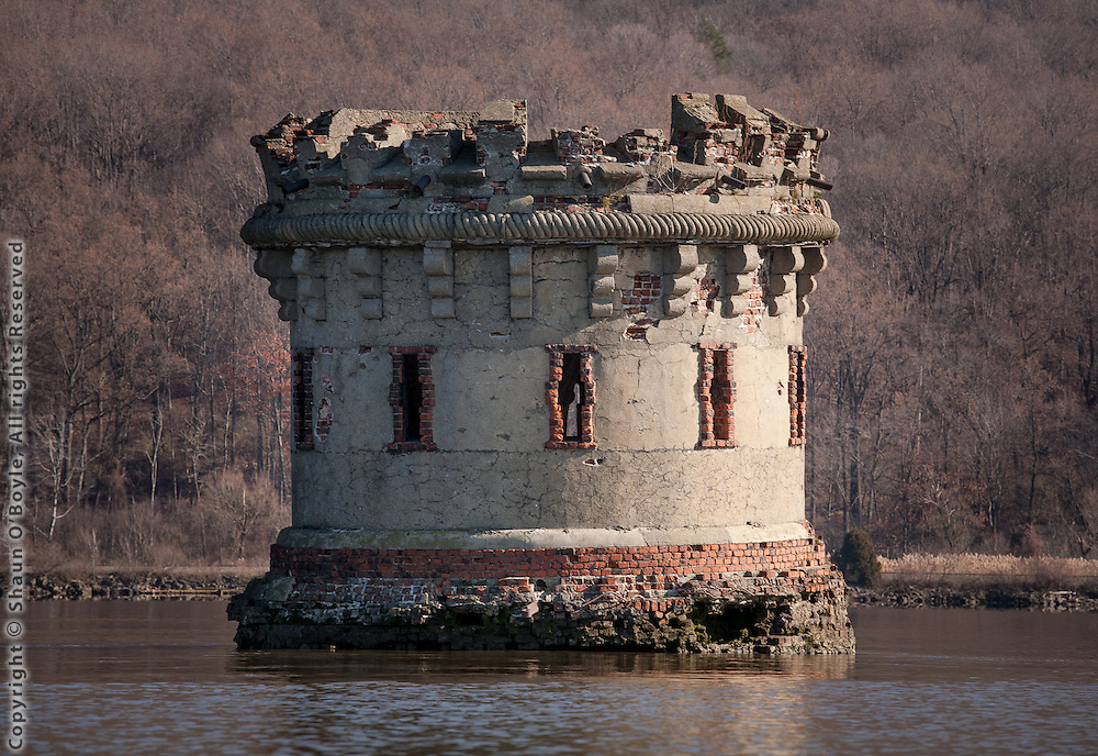 Bannerman's Island ruins on the Hudson River, near Cold Spring, NY