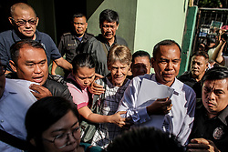 April 17, 2018 - Manila, Philippines - Australian nun Sister PATRICIA FOX is released from custody at the Bureau of Immigration in Manila. Fox was detained for engaging in political activities and anti-government demonstrations. She was later released for further investigation after establishing valid missionary documents. (Credit Image: © Basilio H. Sepe via ZUMA Wire)
