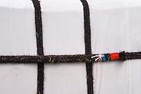 Mongolie, province de Uvs, région de l'ouest, détail de la yourte mongole, corde farbiquée à partir des poils des yaks // Mongolia, Uvs province, western Mongolia, detail of a Mongolian yurt, the rope made with yak's hair