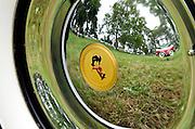 Muntz Hub Cap,  Keeneland Concours D'Elegance,Lexington,Ky.