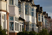 At the beginning of the second week of the UK's Coronavirus lockdown, a street of Edwardian period homes where neighbours are behind their locked doors, in accordance with government guidelines for social distancing and family group isolation, on 30th March 2020, in south London, England.