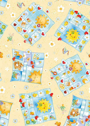 Baby art for wrapping paper