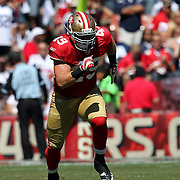 San Francisco 49ers running back Bruce Miller (49) during an NFL football game between the Dallas Cowboys and the San Francisco 49ers at Candlestick Park on Sunday, Sept. 18, 2011 in San Francisco, CA. (Photo/Alex Menendez)