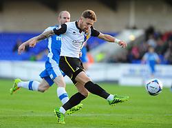 Bristol Rovers' Matty Taylor gets a shot away - Photo mandatory by-line: Neil Brookman/JMP - Mobile: 07966 386802 - 22/11/2014 - Sport - Football - Chester - Deva Stadium - Chester v Bristol Rovers - Vanarama Football Conference