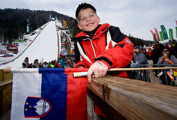 Young fan after the Flying Hill Individual Race at 3rd day of FIS Ski Flying World Championships Planica 2010, on March 20, 2010, Planica, Slovenia.  (Photo by Vid Ponikvar / Sportida)