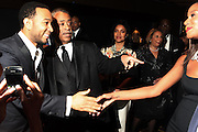 """15 November 2010- New York, NY- l to r: John Legend, Rev. Al Sharpton and Kelli Coleman at The National Action Network's 1st Annual Triumph Awards honoring """"Our Best"""" in the Arts, Entertainment, & Sports held at Jazz at Lincoln Center on November 15, 2010 in New York City. Photo Credit: Photo Credit: Terrence Jennings"""
