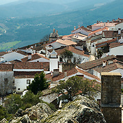 View of village of Marvão from its castle