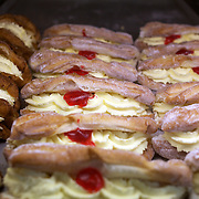 Cream buns on sale at Kerikeri Bakehouse Café,  Kerikeri Rd,  New Zealand, 15th November 2010. Photo Tim Clayton