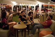 Carol Vasquez, Daniel Navarro, Jessica Delara and Carlos Gil while having drinks at Bar 33 on Saturday night, Oct. 10, 2009..