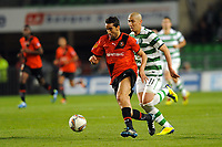 FOOTBALL - UEFA EUROPA LEAGUE 2011/2012 - GROUP STAGE - GROUP I - STADE RENNAIS v CELTIC - 20/10/2011 - PHOTO PASCAL ALLEE / DPPI - YOUSSOUF HADJI (REN) / CHA DU RI (GLA)